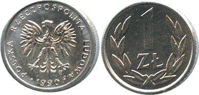 Poland Y.49.3 1 Zloty, KM.Y49.3