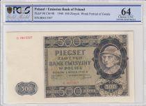 Polen 500 Zlotych 1940 -  Gorale - River, mountain - PCGS 64