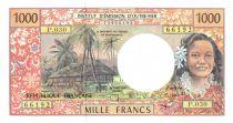 Polinesia Francesa 1000 Francs Tahitian woman - Hut - 2004 alph P.30