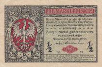 Pologne ½ Marki 1917 - Armoiries