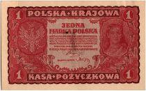 Pologne 1 Marka - Rouge - 1919
