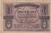 Pologne 1 Marka 1919 - Notgeld, Gniezno i Witkowo