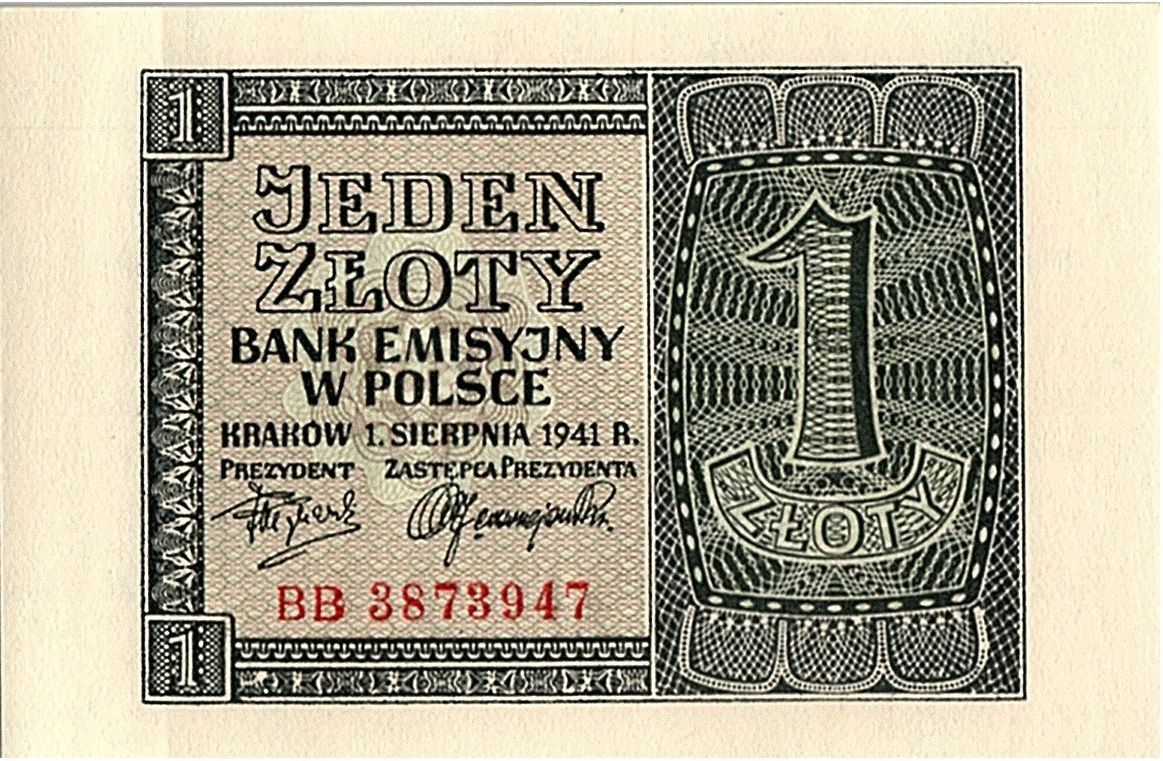 Pologne 1 Zloty  - Gris - 1941