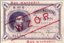 Pologne 1 Zloty 1919  - T. Kosciuszko - Spécimen