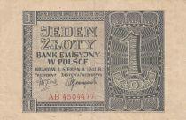 Pologne 1 Zloty 1941 - Gris - Série AB