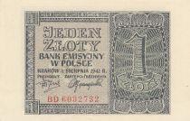 Pologne 1 Zloty 1941 - Gris - Série BD