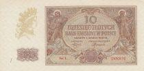 Pologne 10 Zlote 1941 - Figures allégoriques - Série L