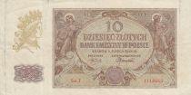 Pologne 10 Zlotych 1941 - Figures allégoriques - Série J