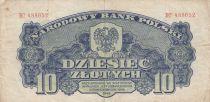 Pologne 10 Zlotych 1944 - Bleu