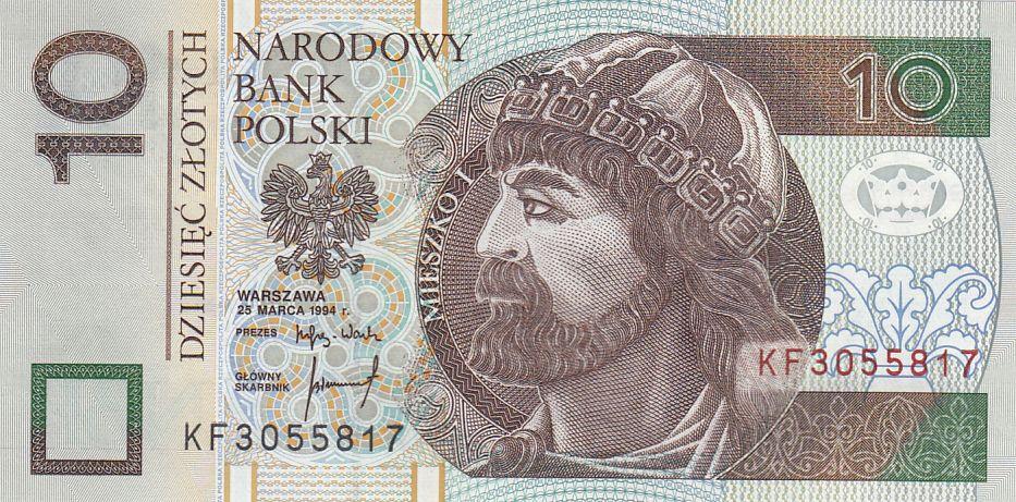 Pologne 10 Zlotych Mieszko 1er - 1994