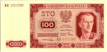 Pologne 100 Zlotych  - Portrait d\'Homme -1948