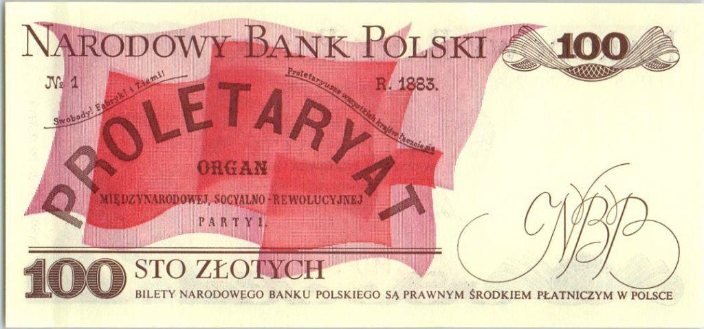 Pologne 100 Zlotych  1986 - Ludwik Warynski