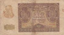 Pologne 100 Zlotych 1940 - Homme barbu, Bâtiment