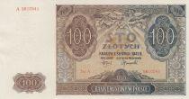Pologne 100 Zlotych 1941 - Marron, Eglise - Série A 5610541