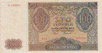 Pologne 100 Zlotych 1941 - Marron, Eglise - Série D 2456812