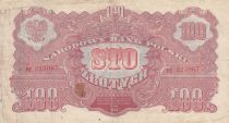 Pologne 100 Zlotych 1944 - Rouge