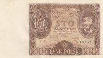 Pologne 100 Zlotych Prince J. Poniatowski - 1934  - SPL Série C.Y.