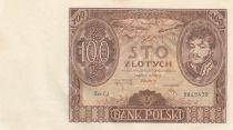 Pologne 100 Zlotych Prince J. Poniatowski - 1934  - SUP Série C.J.