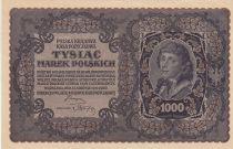 Pologne 1000 Marek  1919  - T. Kosciuszko, Armoiries - Série III AB
