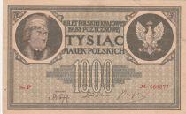 Pologne 1000 Marek  1919  - T. Kosciuszko, Armoiries - Série P