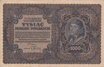 Pologne 1000 Marek  1919  - T. Kosciuszko, Armoiries