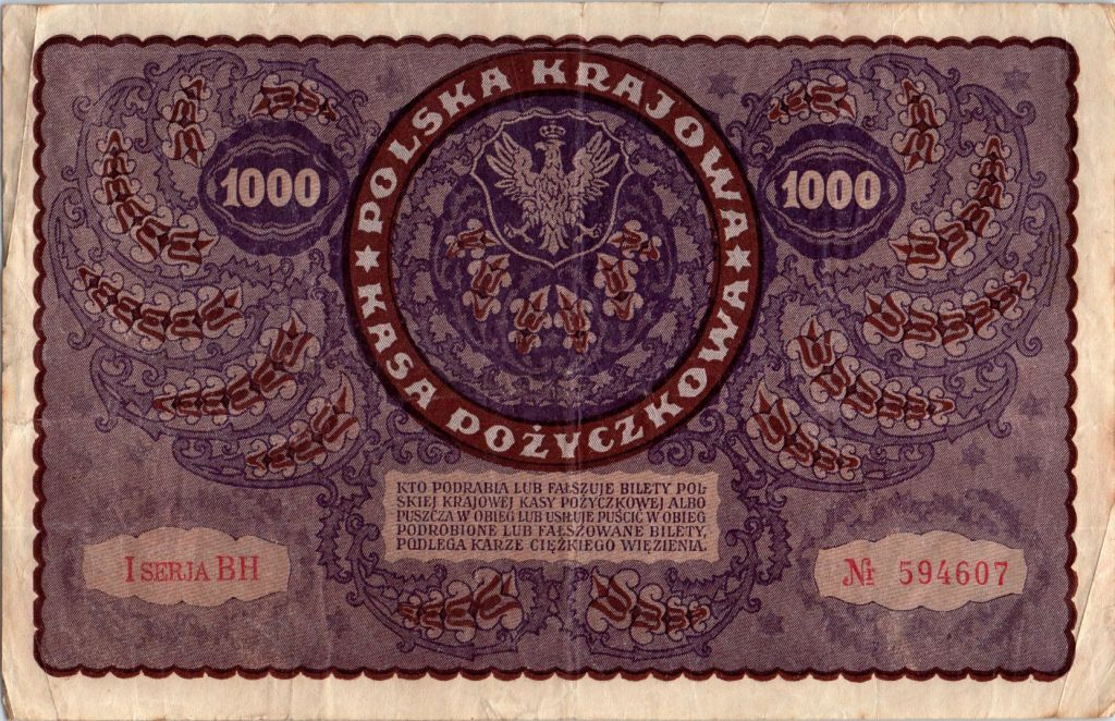 Pologne 1000 Marek 1919 - T. Kosciuszko