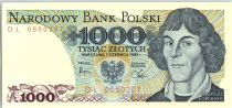 Pologne 1000 Zlotych 1982 - Copernic