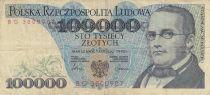 Pologne 100000 Zlotych 1990 - S. Moniuszko