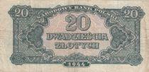 Pologne 20 Zlotych 1944 - Vert olive