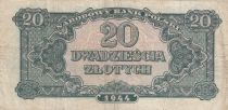 Pologne 20 Zlotych 1944 - Vert olive