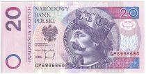 Pologne 20 Zlotych Boleslaw II - 1994