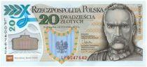 Pologne 20 Zlotych Joseph Pilsudski - 100 ans de la Légion