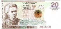 Pologne 20 Zlotych Marie Curie - Prix Nobel