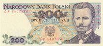 Pologne 200 Zlotych 1986 - J. Dabrowski
