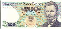 Pologne 200 Zlotych 1988 - J. Dabrowski
