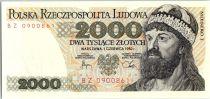Pologne 2000 Zlotych 1982 - Mieszko 1er - Boleslaw Chrobry