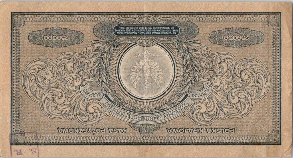Pologne 250000 Marek 1923 - Aigle couronné