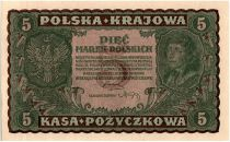 Pologne 5 Marek - T. Kosciuszko - 1919
