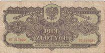 Pologne 5 Zlotych 1944 - Marron