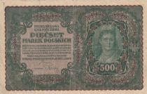 Pologne 500 Marek 1919 - Portrait de femme