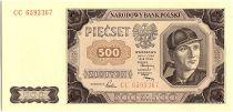 Pologne 500 Zlotych  - Mineur -1948