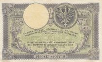 Pologne 500 Zlotych  T. Kosciuszko - Aigle couronné - 1919 - SUP