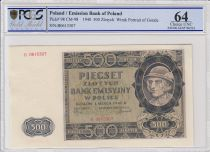 Pologne 500 Zlotych 1940  -  Gorale - Rivière, montagne - PCGS 64