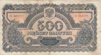 Pologne 500 Zlotych 1944 - Bleu gris