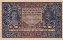Pologne 5000 Marek  1919  - T. Kosciuszko, Armoiries - Série II B
