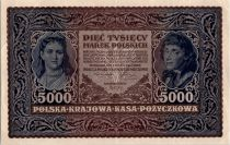 Pologne 5000 Marek 1920 - T. Kosciuszko - Femme