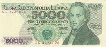 Pologne 5000 Zlotych 1988 - F. Chopin - Série CS