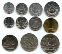 Pologne POL.2 Série 11 pièces 1971-1990 Aigle