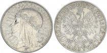 Pologne Y.22 10 Zlotych, Reine Jadwiga - 1932 - TTB