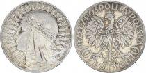 Pologne Y.22 10 Zlotych, Reine Jadwiga - 1933 - TTB